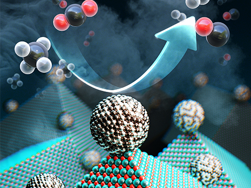 New Catalyst Recycles Greenhouse Gases into Fuel and Hydrogen Gas 이미지