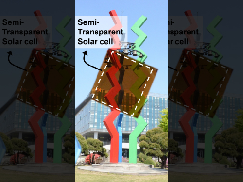 KAIST Team Develops Semi-Transparent Solar Cells with Thermal Mirror Capability 이미지
