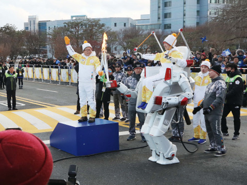 Hubo Completes New Mission at the Winter Olympic Torch Relay 이미지