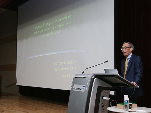 Dr. Steven Chu Talks on Sustainable Energy Policy at KAIST 이미지