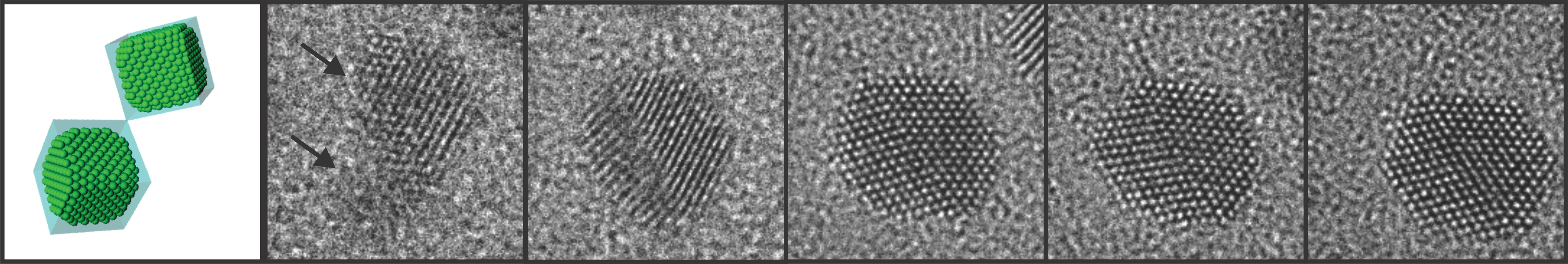 High-resolution Atomic Imaging of Specimens in Liquid Observed by Transmission Electron Microscopes Using Graphene Liquid Cells 이미지