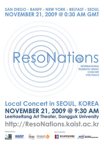 Int'l Telematic Music Concert for Peace to Take Place on Nov. 20 이미지