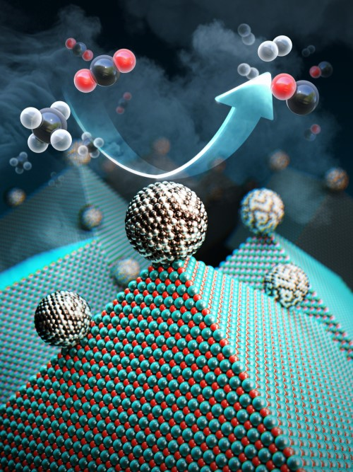 Newly developed catalyst that recycles greenhouse gases into ingredients that can be used in fuel, hydrogen gas and other chemicals.