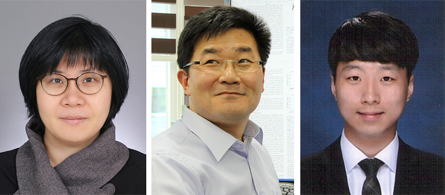 Professor Mi Hee Lim (left), Professor Mu-Hyun Baik (center), and PhD Candidate Mingeun Kim (right)