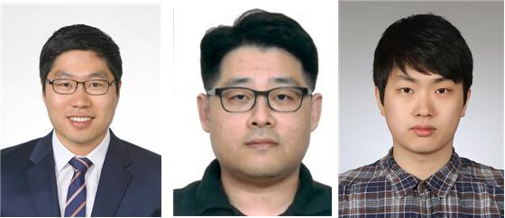 (왼쪽부터) KAIST 육종민 교수, 경북대학교 한영기 교수, KAIST 구건모 박사과정