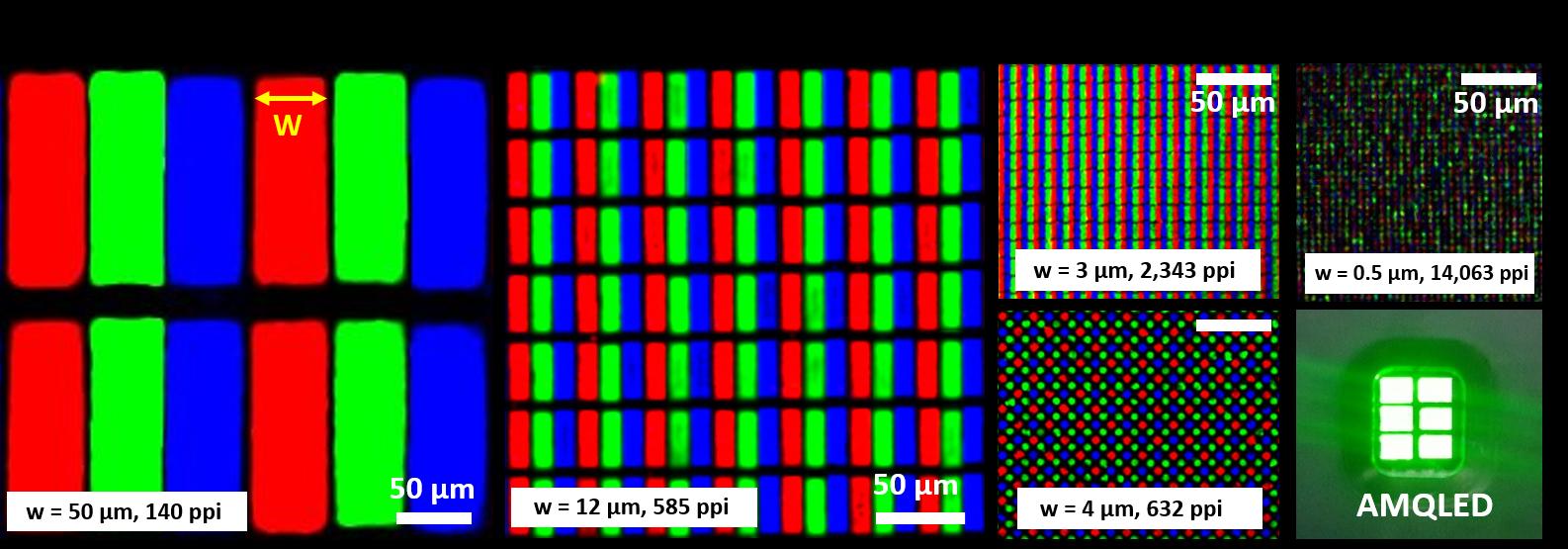 그림 1. 초고해상도 풀컬러 퀀텀닷 LED 이미지