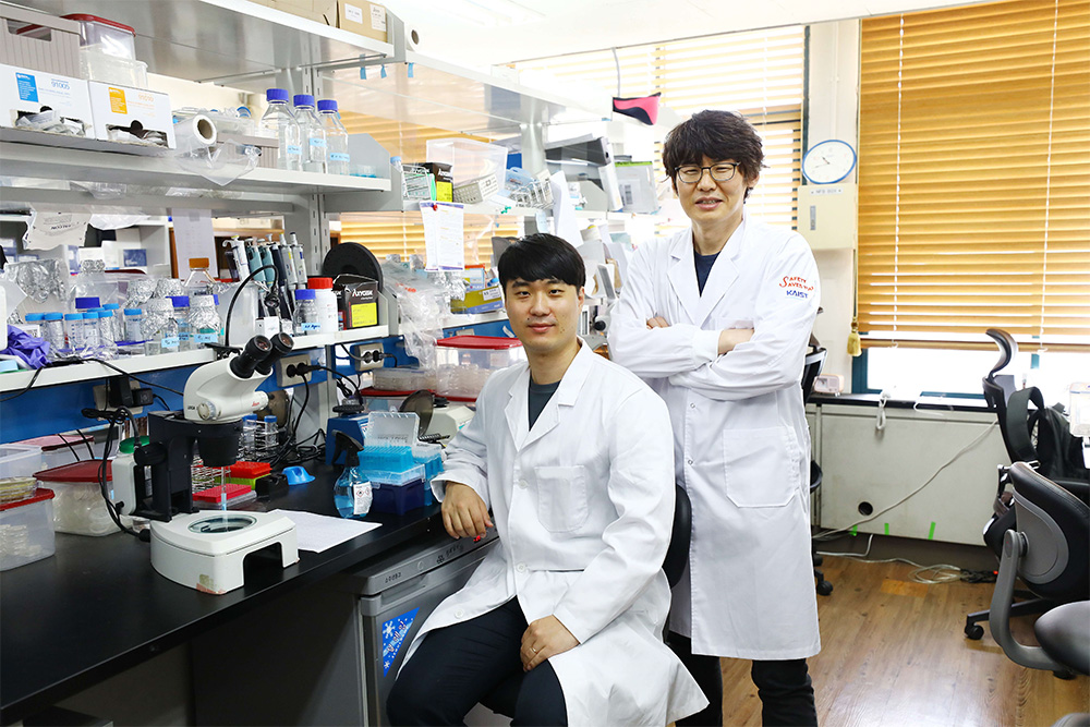 Sangsoon Park (left) and Professor Seung-Jae V. Lee (right)