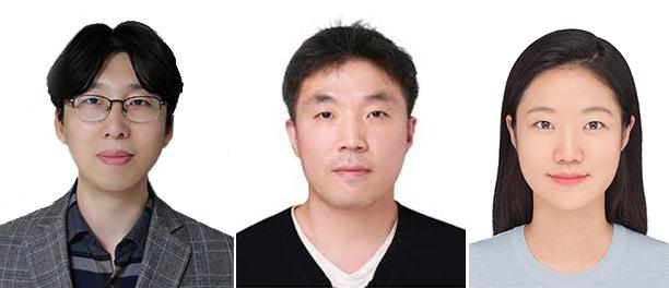 (왼쪽부터) 우리 대학 정연식 교수, KIST 김진영 박사, 우리 대학 김예지 석사(현 MIT 박사과정)