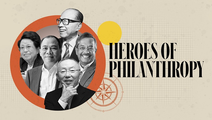 Chairman Soo-Young Lee at the KAIST Development Foundation (far left) was selected as one of 15 philanthropists in Asia by Forbes Asia. (Photo by Forbes Asia)