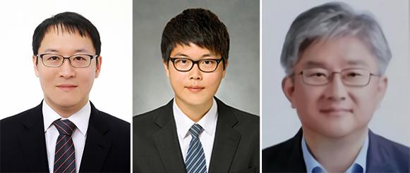 (왼쪽부터) 우리 대학 최벽파 교수, 정찬원 박사과정, 경북대학교 이승훈 교수