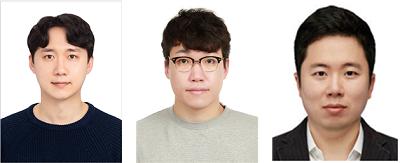 (왼쪽부터) 신소재공학과 이정찬 박사과정, 이호준 석사 졸업생, 스티브 박 교수