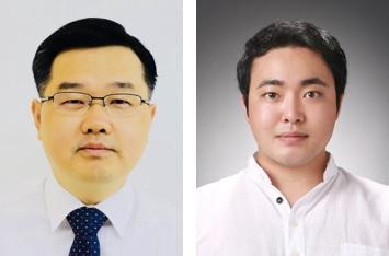 (왼쪽부터) 신소재공학과 강정구 교수, 옥일우 박사과정
