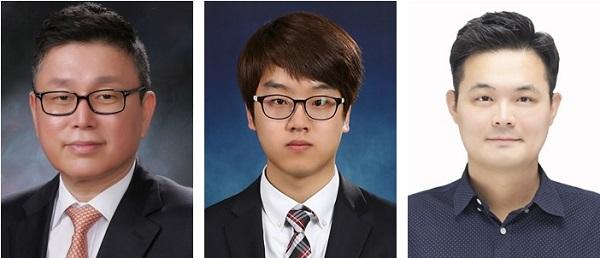 (왼쪽부터) 신소재공학과 배병수 교수, 장준호 박사, 박선중 박사