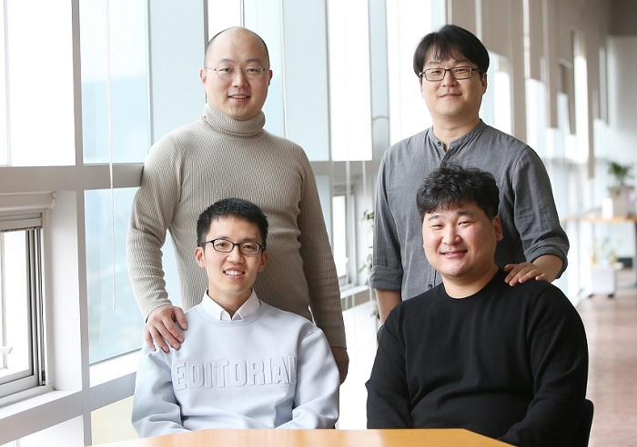 (Clockwise from top-left) Professor YongKeun Park, Professor Chan Hyuk Kim, Dr. Young-Ho Lee, and PhD Candidate Moosung Lee