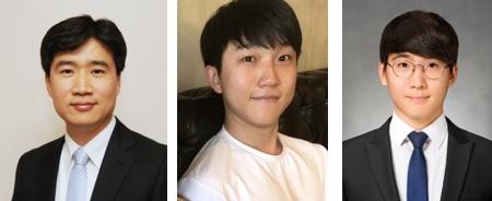 (왼쪽부터) 신소재공학과 김일두 교수, 신하민 박사과정, 김동하 박사과정
