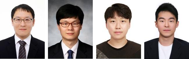 (왼쪽부터) KAIST 최벽파 교수, 이화여대 이상헌 교수, KAIST 장규선 학생, 막스플랑크 연구소 김세호 박사
